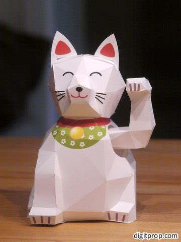 Maneki Neko Origami - moving arm lucky cat maneki neko po archives