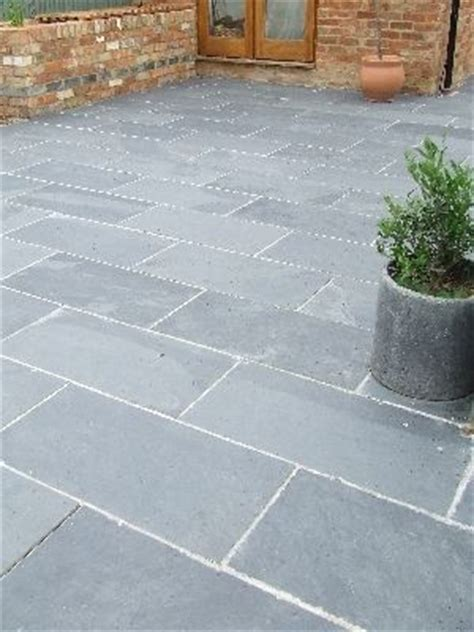 black grey slate paving patio garden slabs slab tile