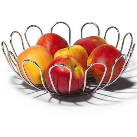 fruit bowl walmart spectrum bloom fruit bowl chrome walmart