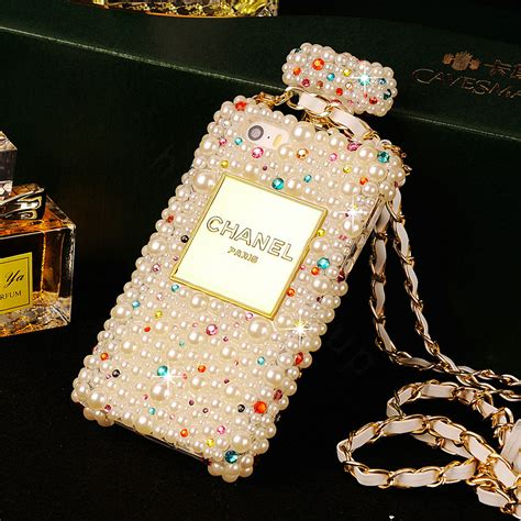 Luxury Fashion Rhinestone Crown Pearl Bling Casecassingcasing Iphone buy wholesale luxury chanel bling cases pearls scent bottle chain covers for iphone 6