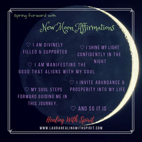 moon intentions  affirmations  guide