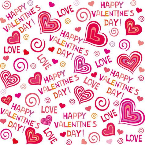 cute valentine pattern cute hearts background vector free vector 4vector