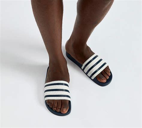 adidas adilette adidas originals adilette slides sandal white adiblue