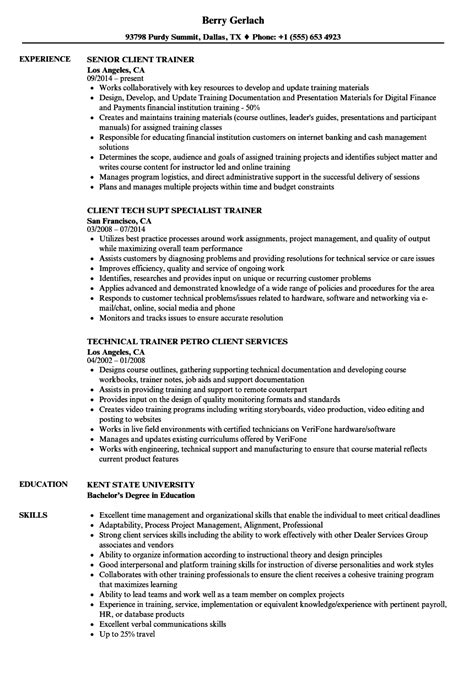 resume format for technical trainers technical trainer resume annecarolynbird