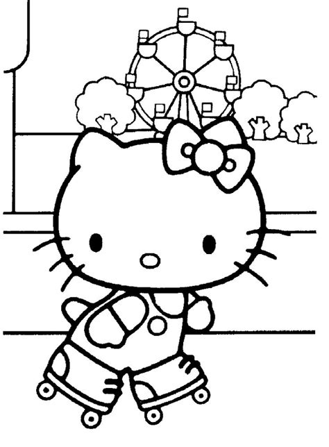 Hello Kitty Coloring Pages Roll   hello kitty coloring pages roller skating pinterest