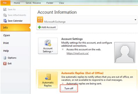 disable out of office assistant outlook 2010 and 2013
