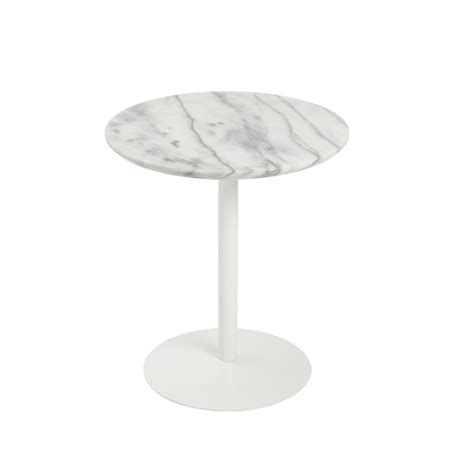 white table l base york marble end table brickell collection modern furniture