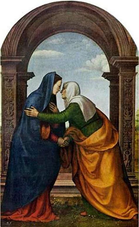 imagen de la virgen maria visitando a su prima isabel la visitaci 243 n de la virgen mar 237 a