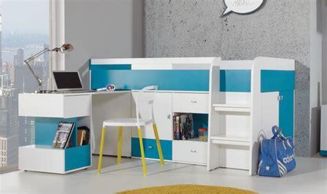 lit et bureau enfant lit enfant avec bureau coulissant et rangements jolly