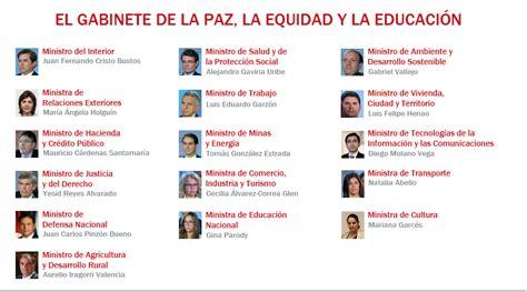 gabinete de la presidencia del gobierno presidencia de la rep 250 blica de colombia