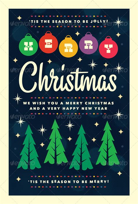 Happy Holidays Vector Flyers 187 Dondrup Com Merry Flyer Template Free