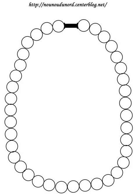 Coloriage collier ou collage de gommettes