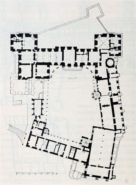 Chateau Plans by Ground Floor Plan Of The Ch 226 Teau De Blois Architectural