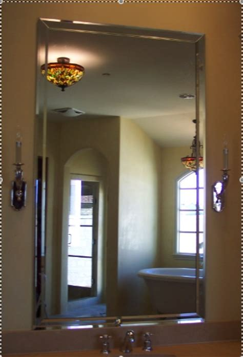 Beach Style Looking Glass Company Mirror Installation