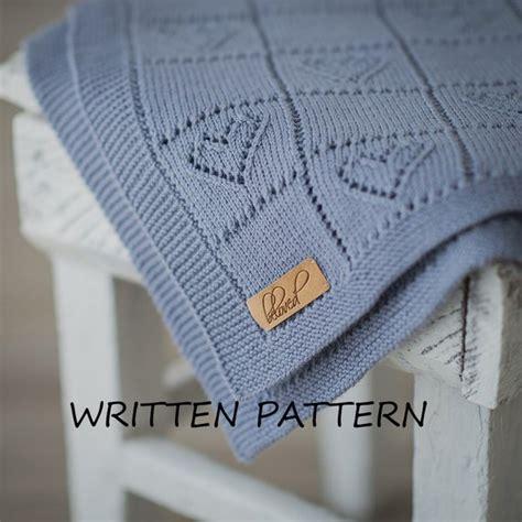 Decke Stricken by Gestrickte Baby Decke Muster Wird Per Post Zugesandt Werden