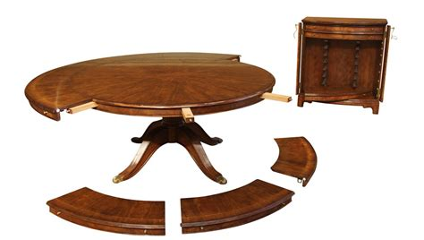 round table with built in leaf