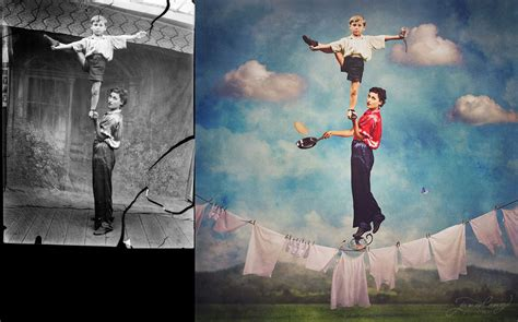 imagenes sub realistas jane long colorizes old photos and adds a surreal twist to