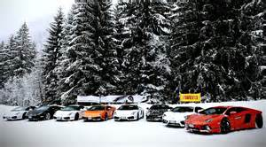 Lamborghini Mix Lamborghini Aventador Gallardo Mix Cars Snow Hd Wallpaper