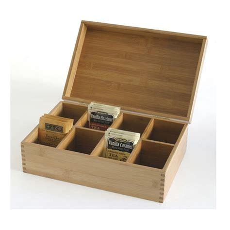 Kitchen Organizer Box New Lipper International Bamboo Wood Tea Bag Storage Box