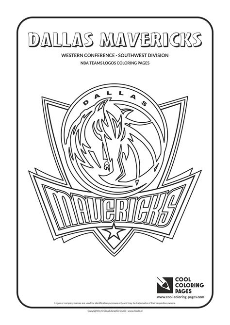 coloring pages nba team logos dallas mavericks free colouring pages