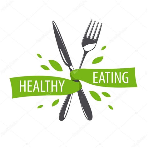 logo knife vector logo fork and knife for a healthy diet stock