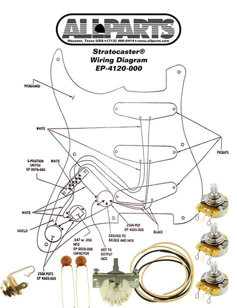 stratocaster diagram wiring kit fender 174 stratocaster strat complete with