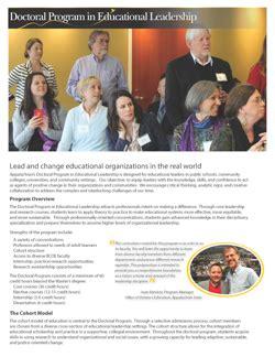 Educational Leadership Doctoral Programs by Doctoral Program In Educational Leadership Appalachian