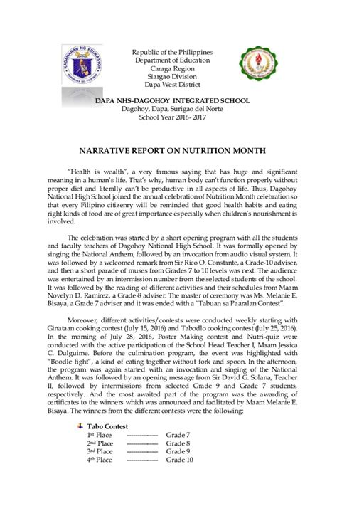 narative report sle sle narrative report for ojt in information technology