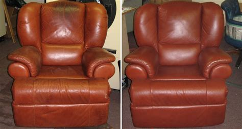 how to refinish leather couch refinishing leather furniture see before and after