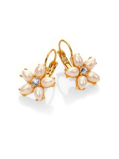 Kate Spade Earing 0oru1624 kate spade mini bouquet drop earrings in gold gold lyst