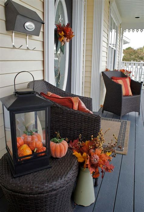 decorating home for fall charming frontyard patio applying fall decorations ideas