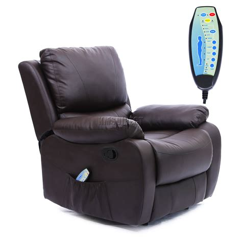 cinema recliner chair foxhunter leather massage cinema recliner chair sofa