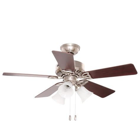 hunter beacon hill 42 ceiling fan hunter beacon hill 42 in indoor brushed nickel ceiling
