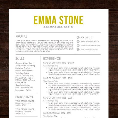 resume cv template quot the quot resume design in gold