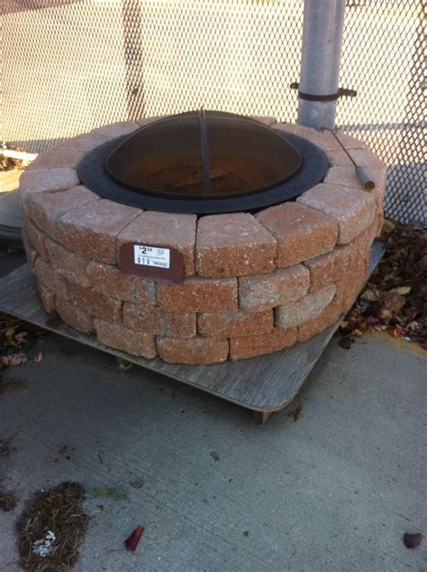 backyard fire pit lowes fire pit at lowes outdoor patio inspirations pinterest