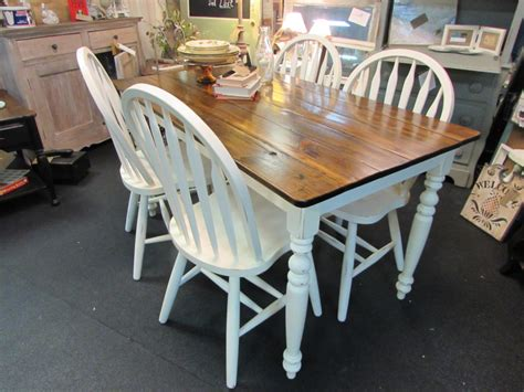 farmhouse table and chairs country home farm table and chair set just fine tables