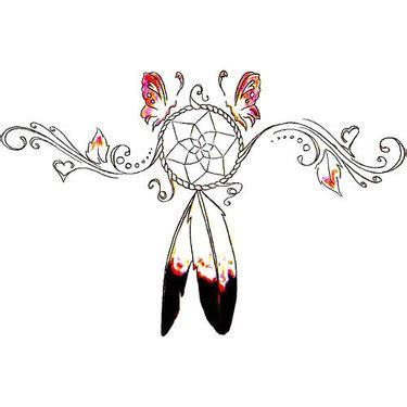 geometric dreamcatcher tattoo geometric thunderbird tattoo design