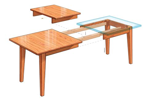 extendable dining table plans extension dining table finewoodworking