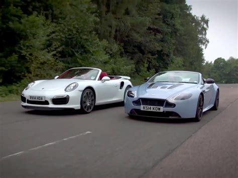aston martin turbo porsche 911 turbo s vs aston martin v12 vantage s