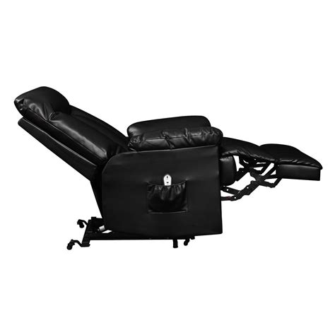 Leather Recliner Lift Chairs by Electric Lift Chair Recliner Black Leather Power Motion