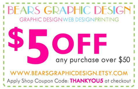 etsy coupons for graphic design custom etsy banners business cards covers crafty