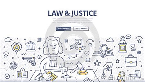 doodle lawyer justice doodle concept stock vector image 66404686
