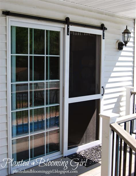 screen doors cure 4 decor how to add a barn track sliding screen door