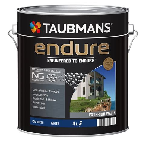 taubmans exterior paint colours taubmans endure 4l white low sheen exterior paint