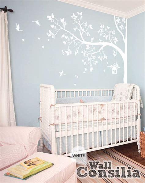 Kinderzimmer Einrichten Junge 2845 tree wall decal nursery wall decor white tree wall