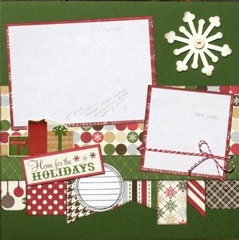 premade scrapbook page 12 x 12 christmas layout home for