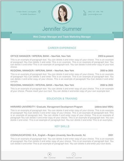 free modern resume templates for word free resume templates for word resume resume