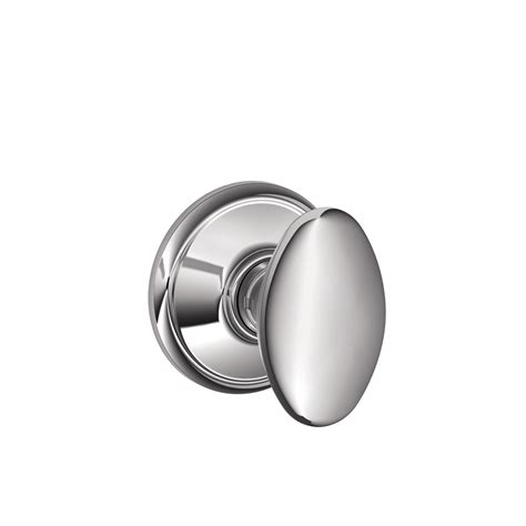 Schlage Chrome Door Knobs by Shop Schlage Siena Bright Chrome Egg Passage Door Knob At
