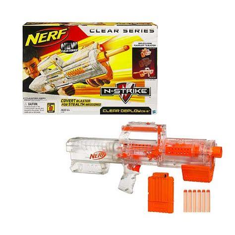 Nerf Langka Deploy Cs 6 Clear nerf clear n strike deploy cs 6 blaster hasbro nerf