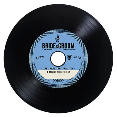 vinyl format cd blue vintage vinyl cd wedding favor invite unique